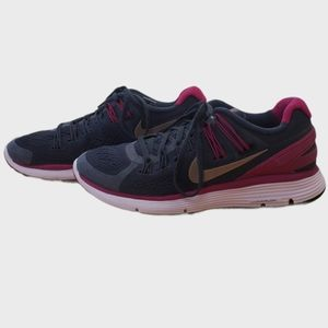 Nike Lunareclipse Running Shoes Grey Pink Size 7.5